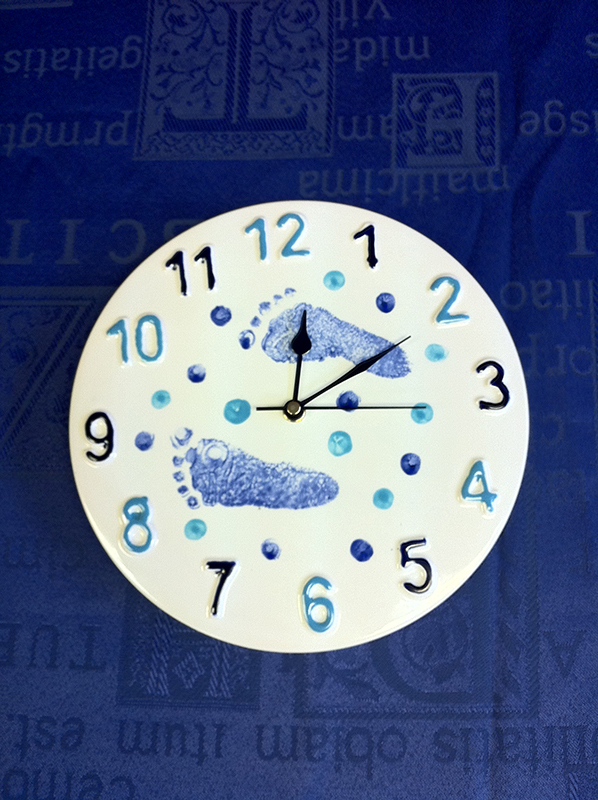 Splash of Colour baby clock