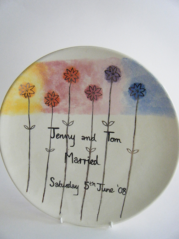 Splash of Colour wedding plate
