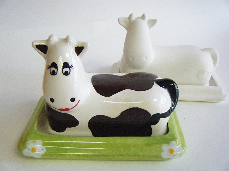 Splash of Colour cow butter dish