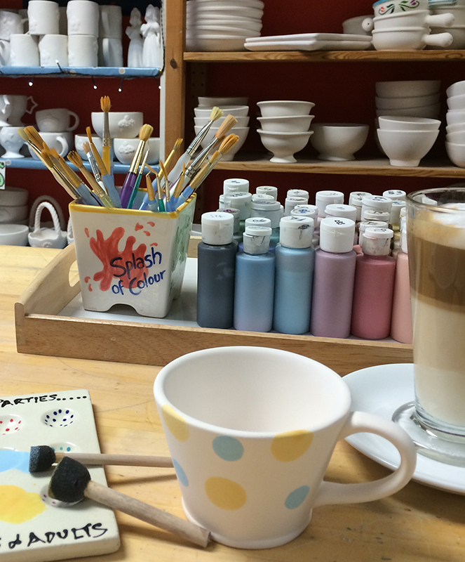 Splash of Colour paint tray and coffee