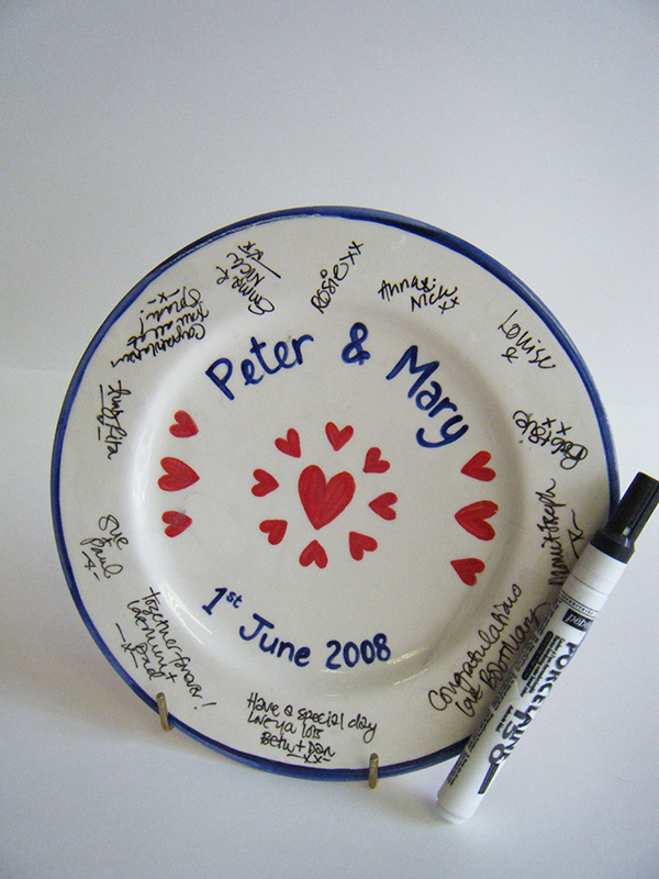 Splash of Colour wedding signature plate