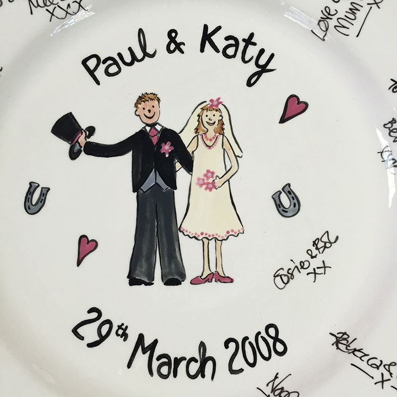 Splash of Colour signature wedding plate