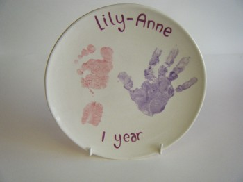Splash of Colour baby plate