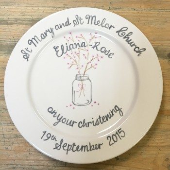 Splash of Colour commission - Christening Plate