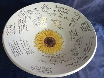 Splash of Colour commission - Wedding plate