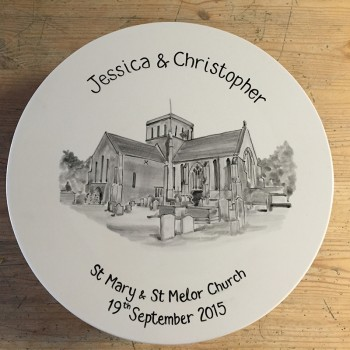 Splash of Colour commission - Wedding Plate