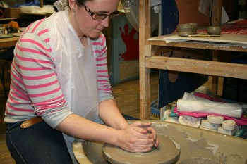 Potters wheel at the Splash of Colour in Salisbury