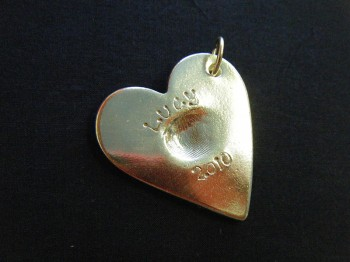 Splash of Colour baby silver heart pendant